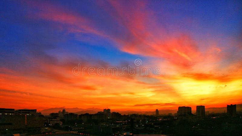 Burning sky royalty free stock photo