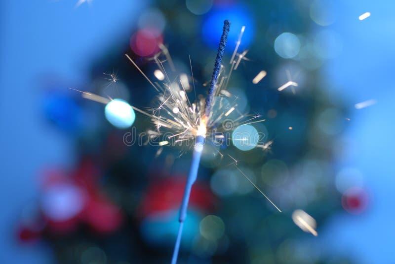 Burning sparkler royalty free stock photography