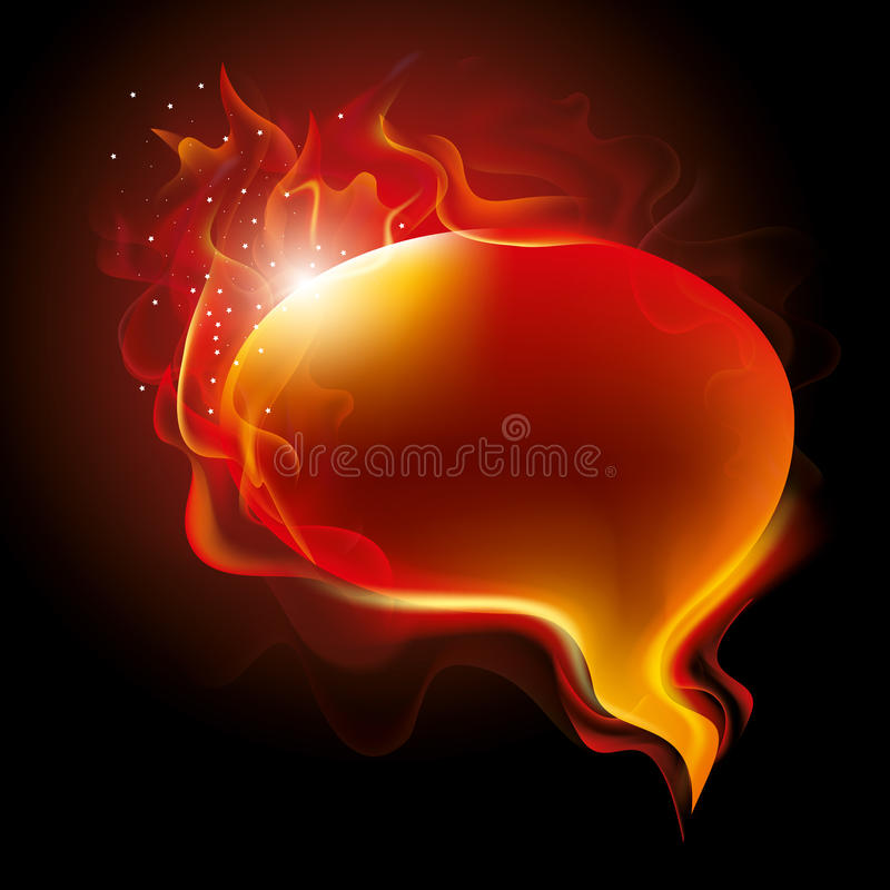 Download Burning speech bubble stock vector. Image of relationship - 19679077