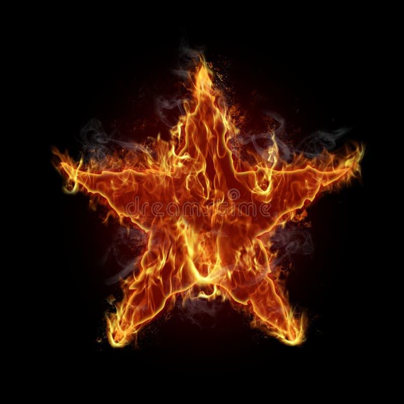 Burning star vector illustration