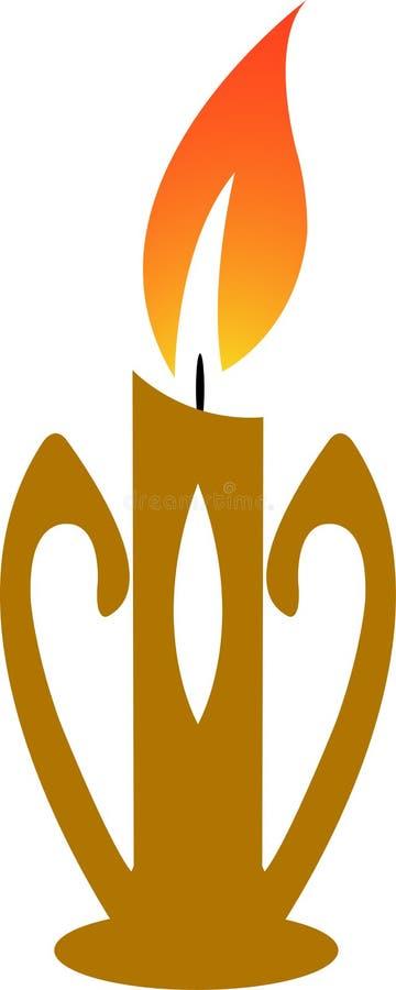 Burning stearinljus vektor illustrationer