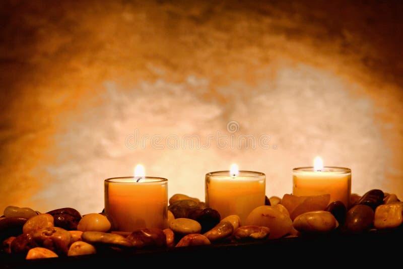 burning stearinljus meditation royaltyfria foton