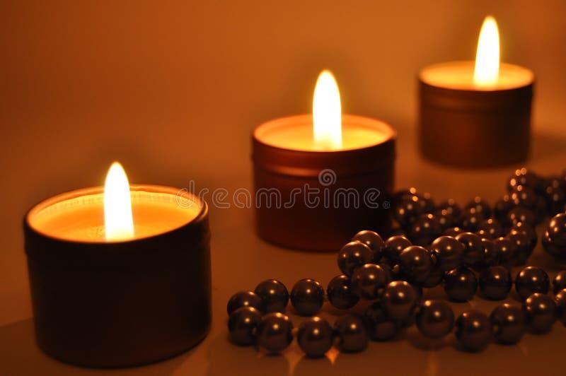 burning stearinljus natt royaltyfria foton