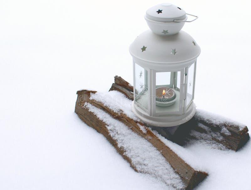 burning stearinljuslykta arkivbild