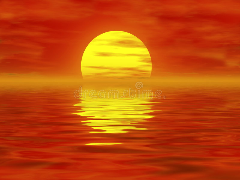burning sun royaltyfri foto