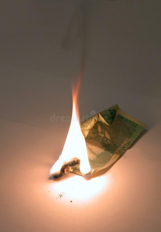 Download Burning A Ten Thousand Bill Stock Image - Image: 2053