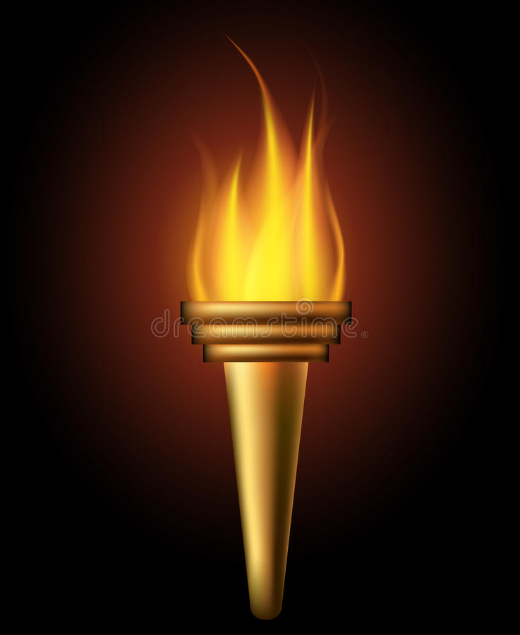 Download Burning torch stock vector. Image of flaming, olympia - 32453638