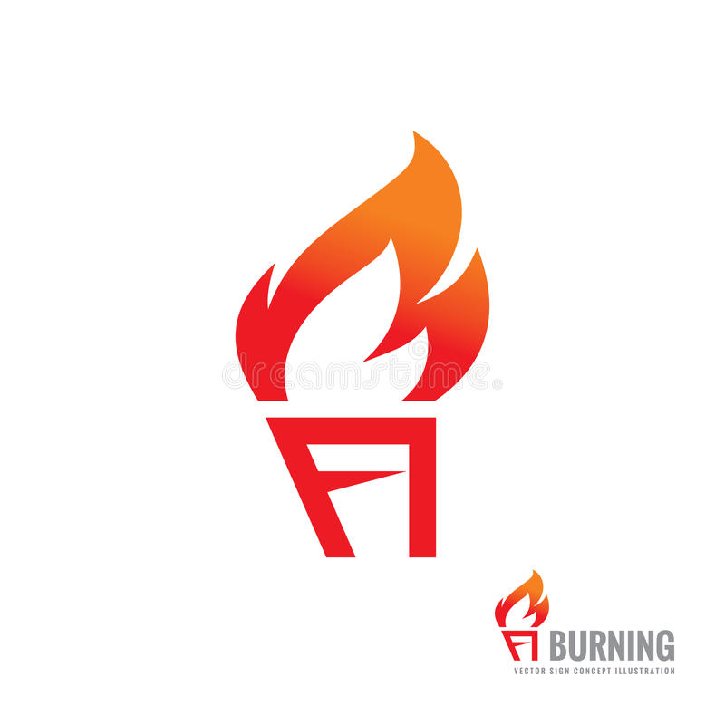 Flames Template | Burning Torch Vector Logo Template Concept Illustration Fire