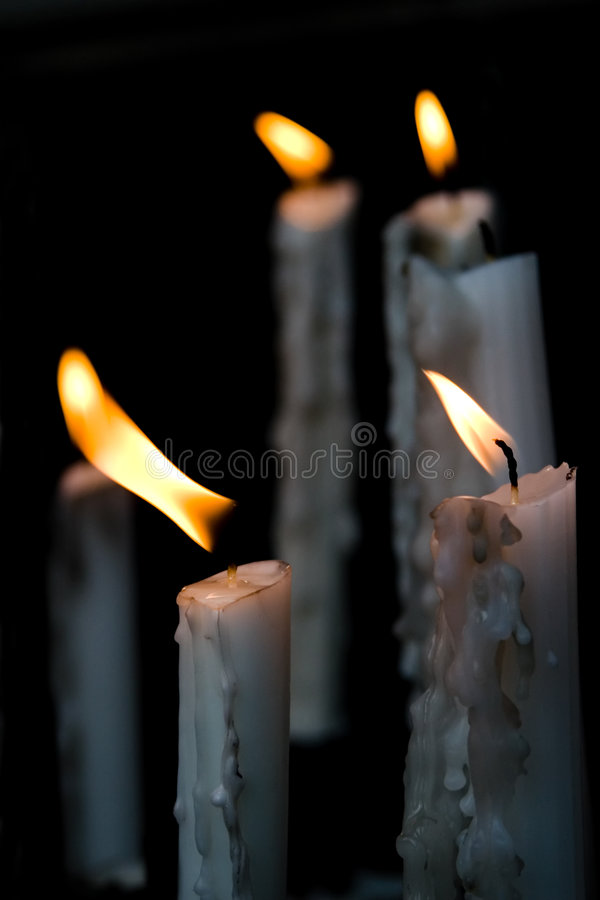 Free Burning Wax Candles Stock Images - 2171514