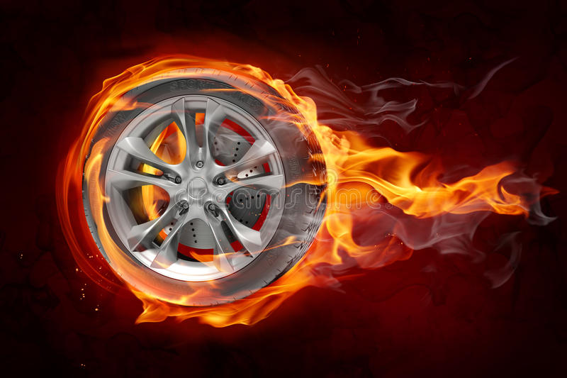 Download Burning wheel stock illustration. Image of burning, sports - 14441522