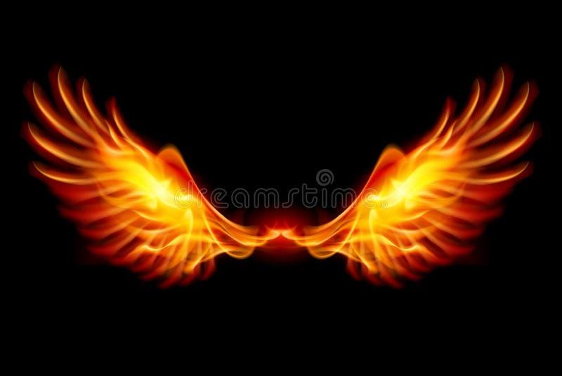 Burning Wings royalty free illustration