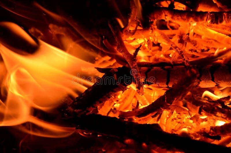 Burning wood as a graphic resource. Burning firewood is used as a graphic resource royalty free stock photos