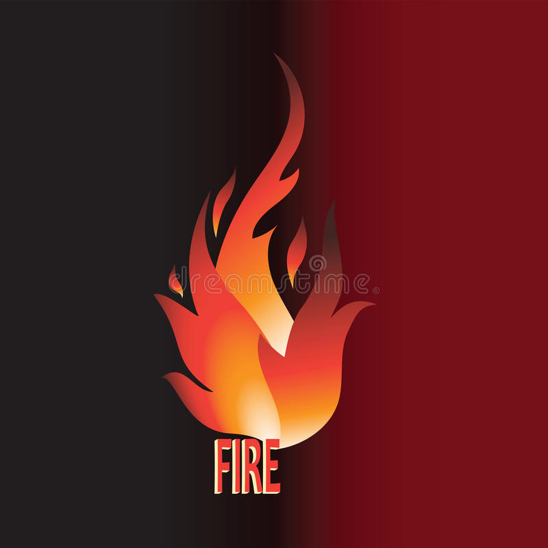 Burning word FIRE. stock illustration