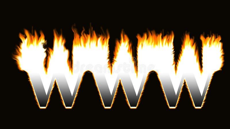 Burning www vector illustration