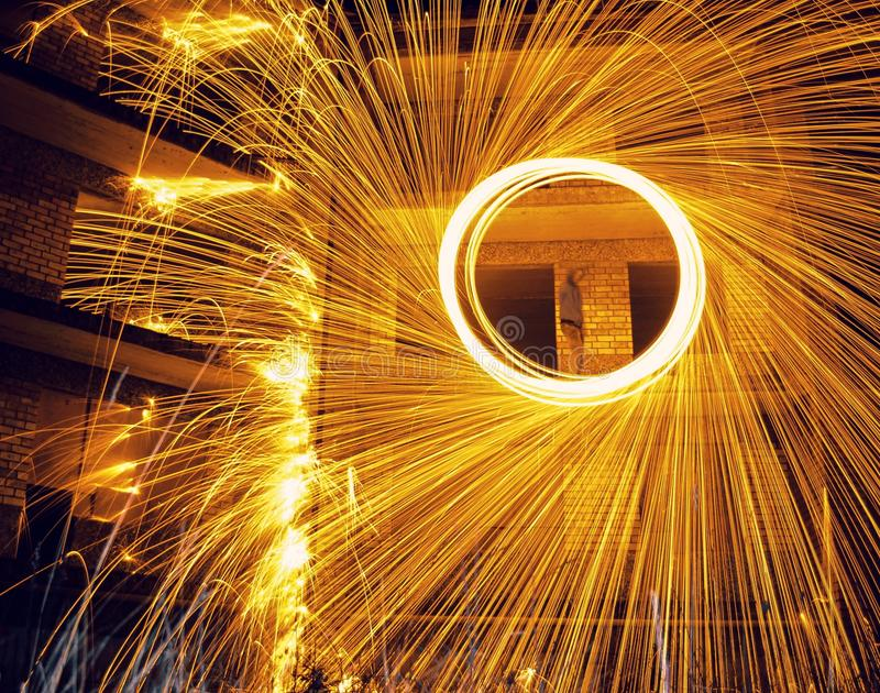 Burningring. Art of longexposure royalty free stock photography