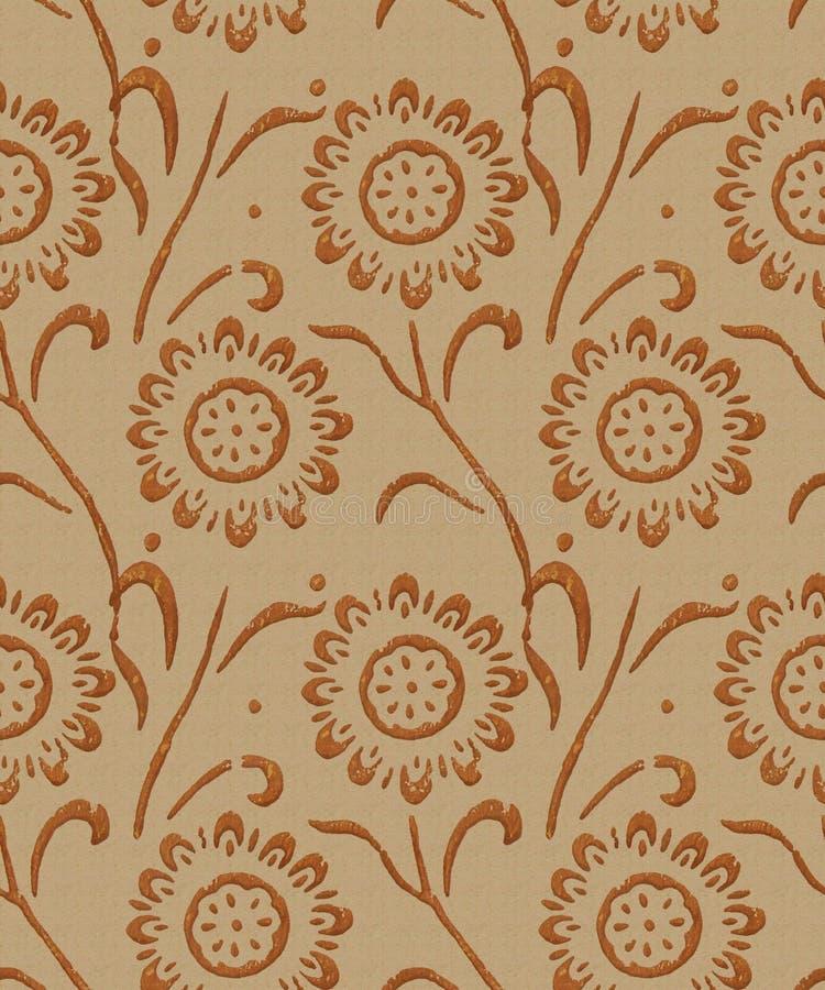 Burnishing plaster - seamless pattern. Burnishing odl ornate plaster, seamless repeating pattern stock photos