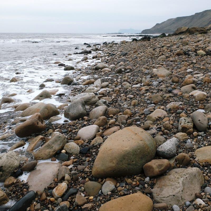 Burniston North Yorkshire kust England royaltyfria bilder