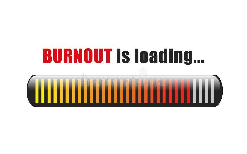 Burnout ładuje stresu baru ilustracja wektor