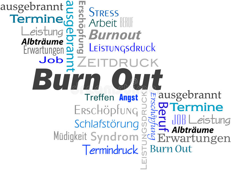 Download BurnOut stock illustration. Image of fatigue, disease - 28042464