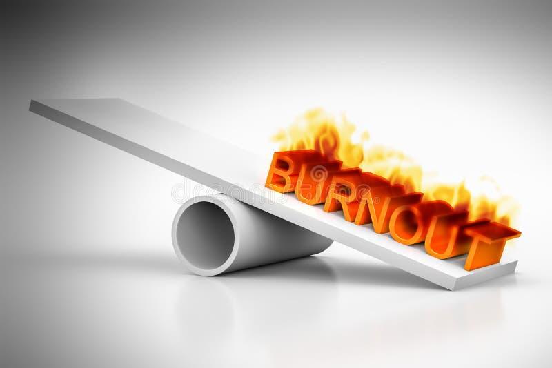Burnout ilustracja wektor