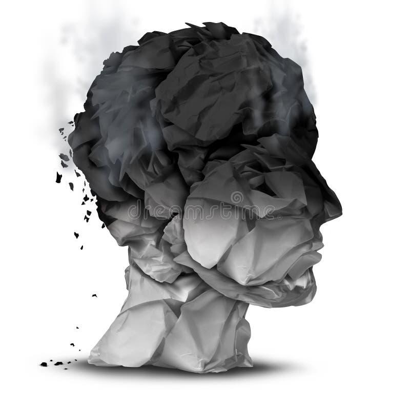 burnout ilustração do vetor