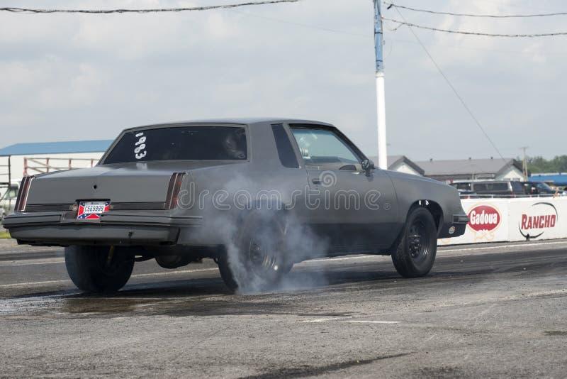 Burnout dell'automobile immagine stock libera da diritti