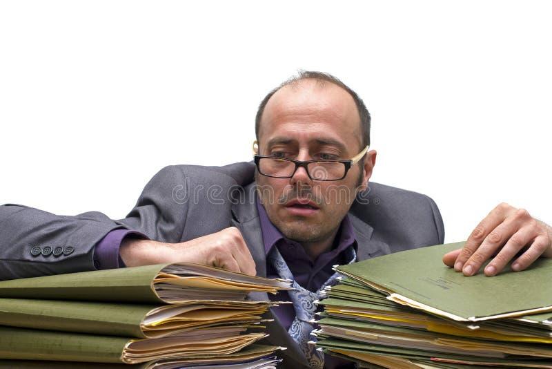 Burnout dell'ufficio fotografia stock