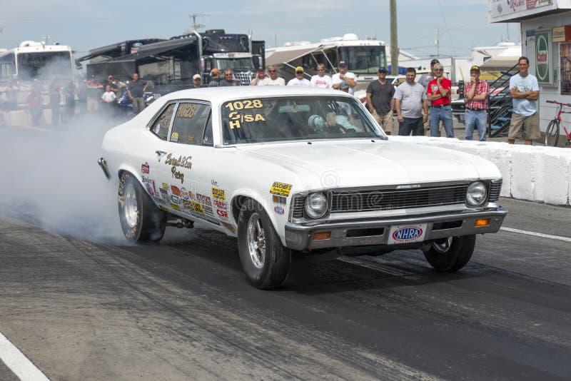 Burnout della nova di Chevrolet fotografie stock libere da diritti