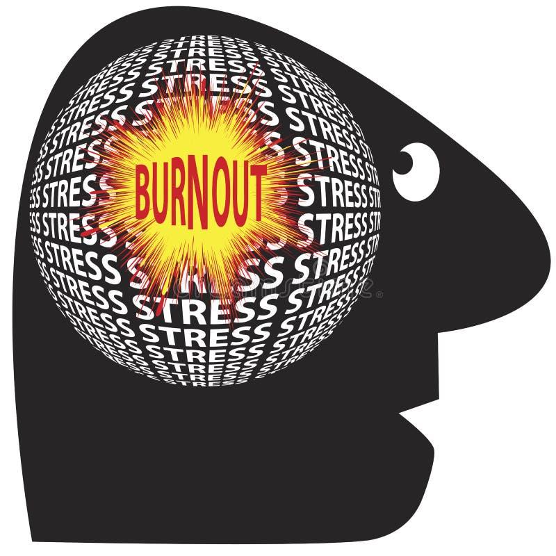 Burnout durch Druck stock abbildung