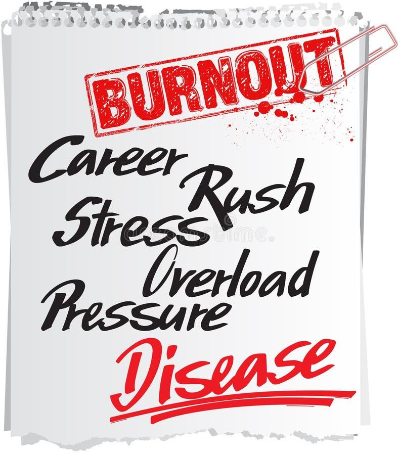 Download Burnout note stock vector. Illustration of information - 19735362