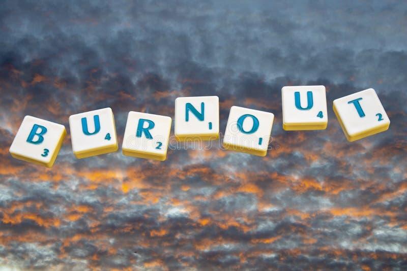 Burnout imagem de stock