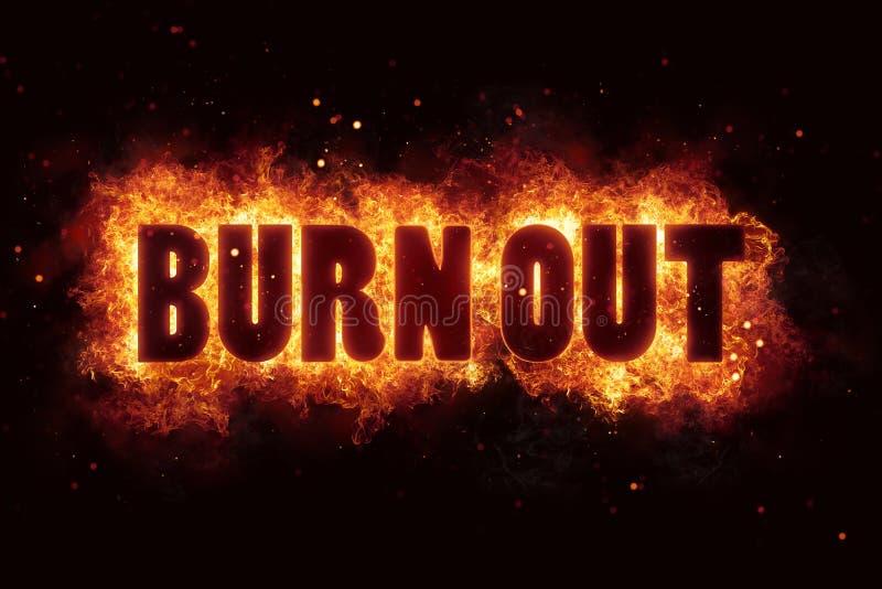 Burnout oparzenie płomieni pożarniczy wybuch wybucha ilustracji