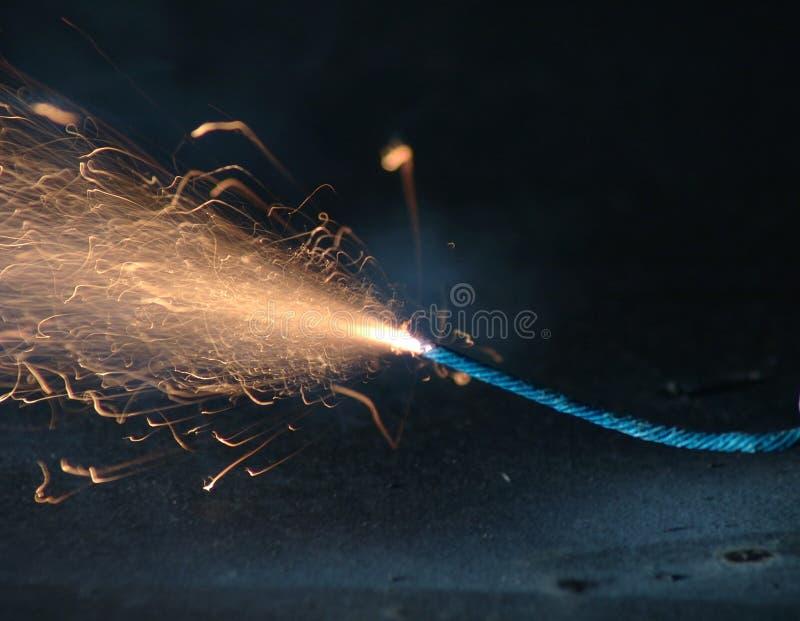 Burnout scintillante del fusibile fotografia stock libera da diritti