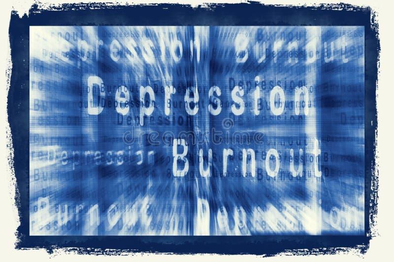 BURNOUT-SYNDROME ilustração royalty free