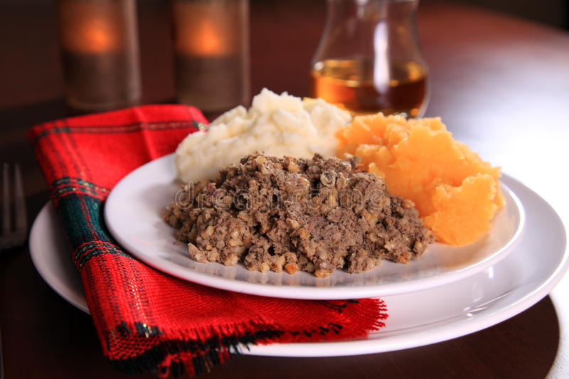 Download Burns Night Haggis stock photo. Image of plate, whiskey - 23228688