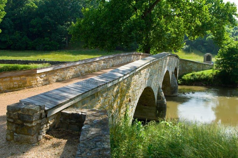Burnside Bridge at Antietam. Battlefield at Sharpsburg, Maryland, USA stock photos