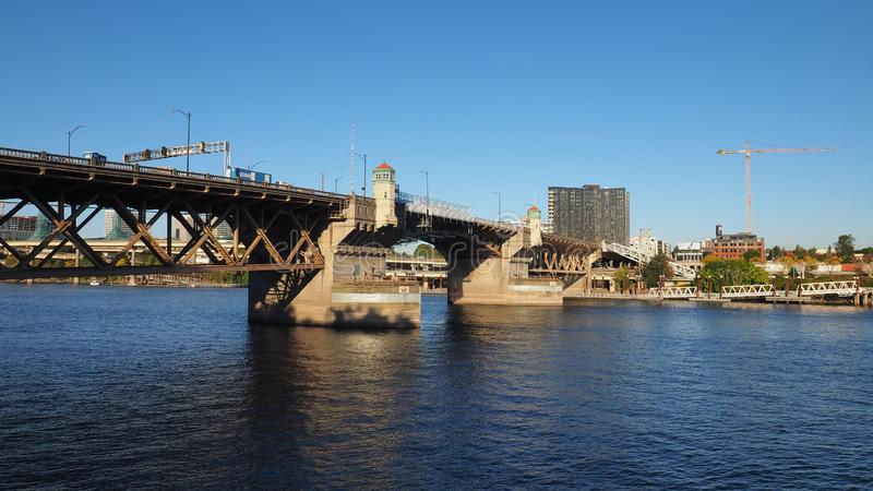 Burnside Bridge, Portland, Oregon. stock photos