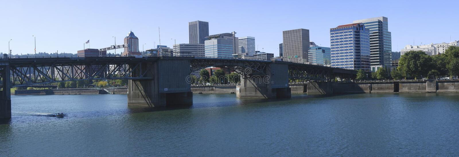 The Burnside Bridge Portland OR. royalty free stock images