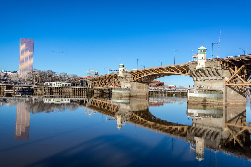 Burnside Bridge Reflection stock images
