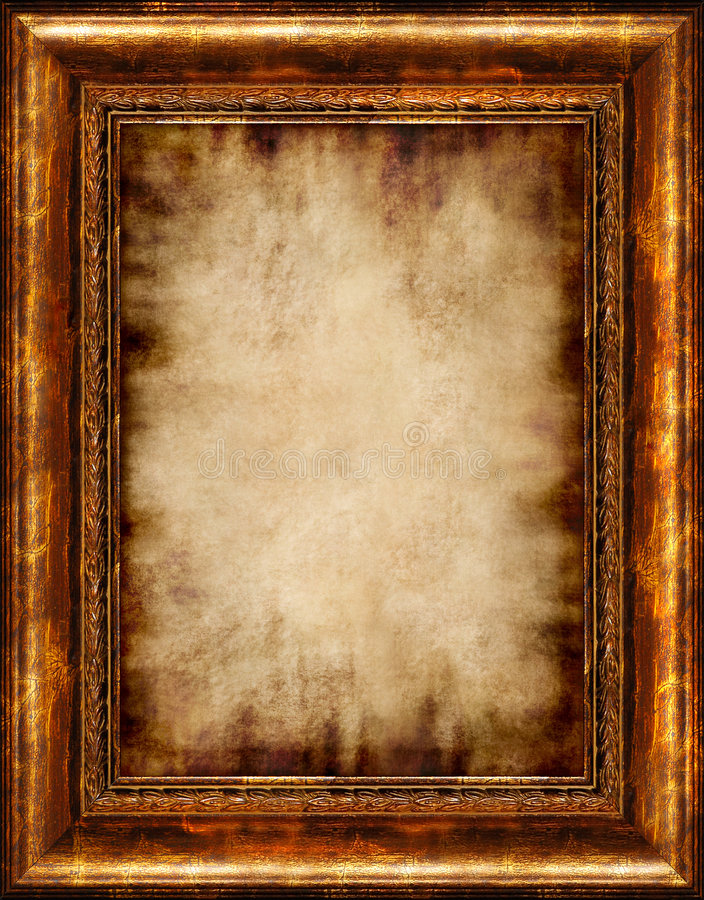 Free Burnt Antique Framed Parchment Royalty Free Stock Photo - 1450145