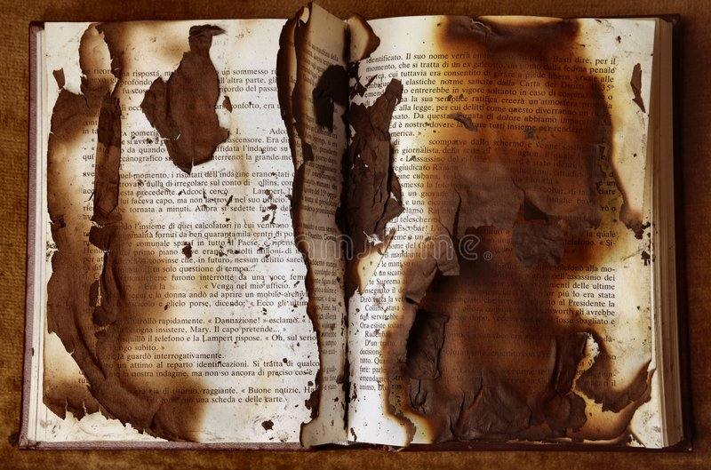 Burnt book royalty free stock image