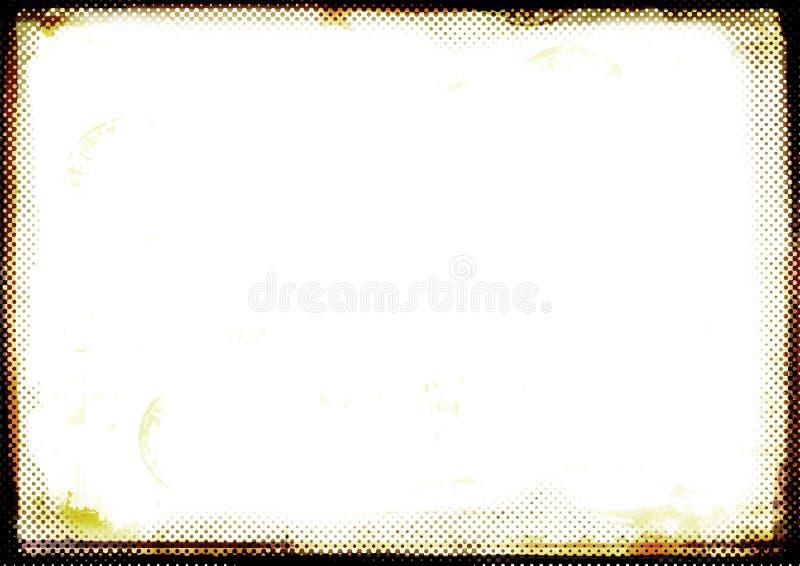 Burnt brown photographic border royalty free illustration