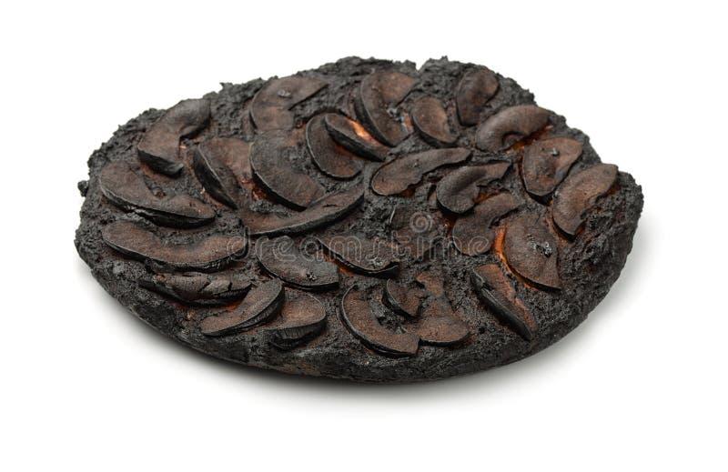 Burnt cake stock image