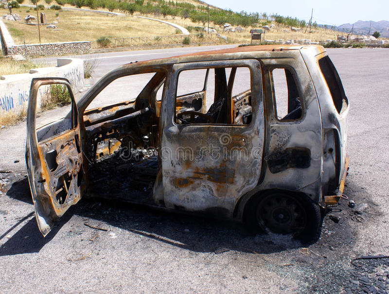 Download Burnt Car Royalty Free Stock Photo - Image: 10350285