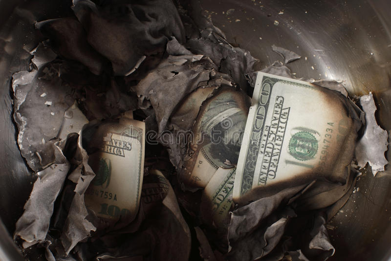 Download Burnt Cash Royalty Free Stock Photo - Image: 12748735