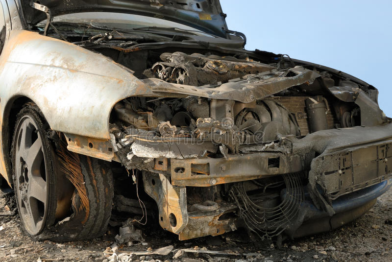 Download Burnt down car stock image. Image of cost, fire, accident - 18643687