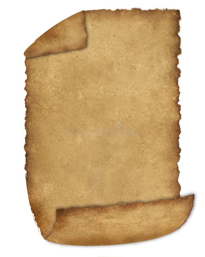 Burnt Edges Parchment 3 stock images
