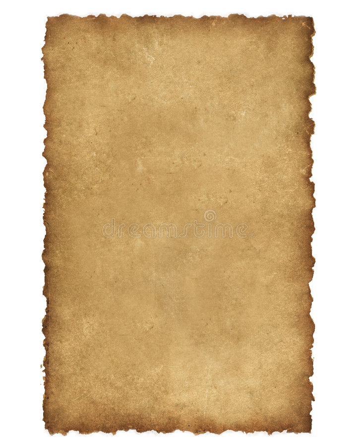 Burnt Edges Parchment royalty free stock photography