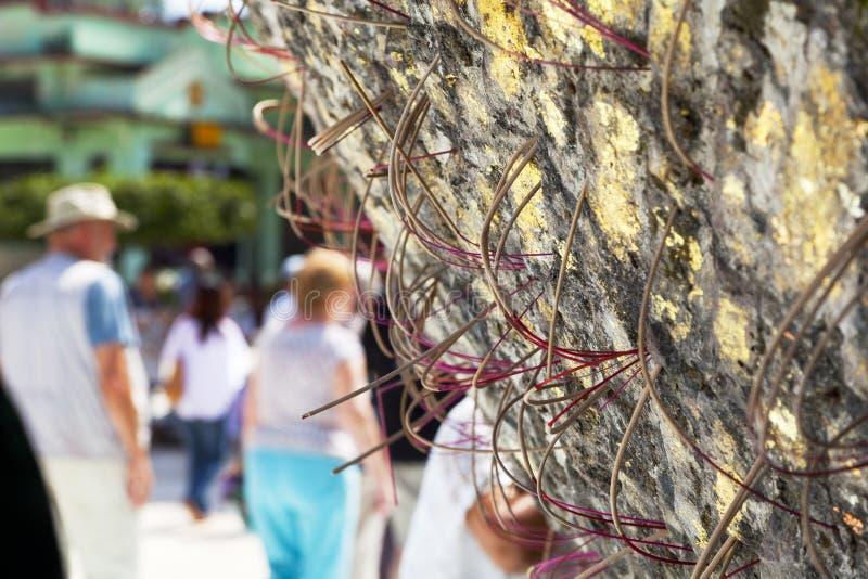 Burnt incense stock image