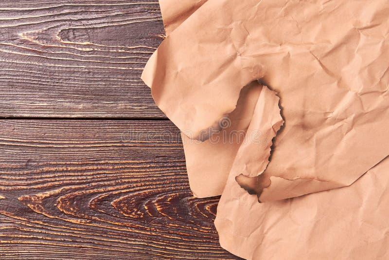 Burnt kawałek rocznika papier obrazy royalty free